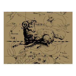 Mapa Hevelius 1690 da constelação do Aries Cartão Postal