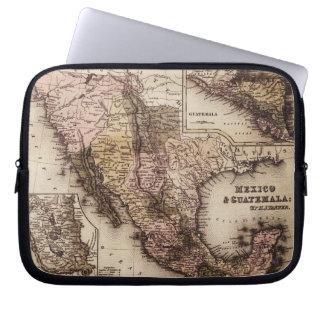 Mapa histórico México e bolsa de laptop de Guatema Capa Para Laptop
