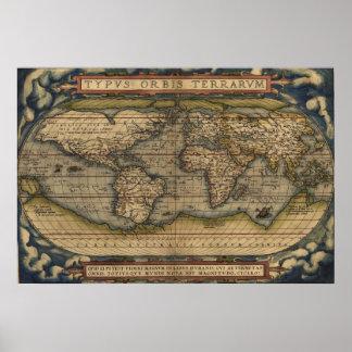Mapa inglês do império poster