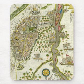 Mapa islâmico antigo mouse pad