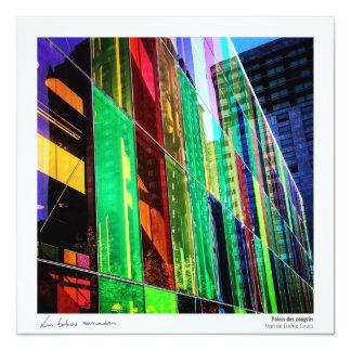 Mapa Postal Quebeque - as cores do Palácio Convite Quadrado 13.35 X 13.35cm