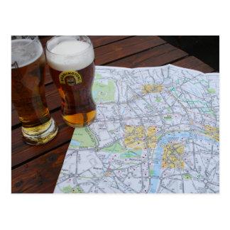 Mapa viagem de Londres Inglaterra - de Europa ao Cartão Postal