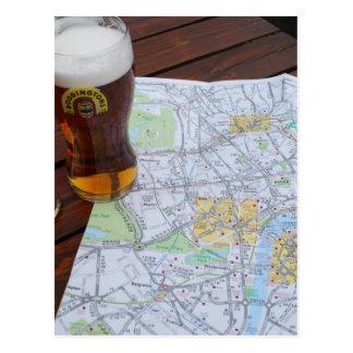 Mapa viagem de Londres Inglaterra - de Europa ao Cartões Postais