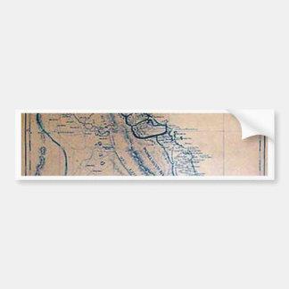 Mapa vietnamiano antigo adesivo para carro
