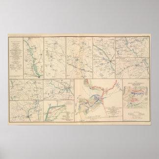 Mapas da campanha de Goldsborough do savana Poster