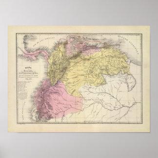 Mapas militares históricos de Venezuela Poster