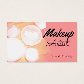 Maquilhador à moda cartão de visitas