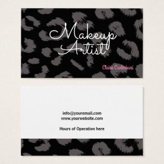 Maquilhador animal do impressão cartão de visitas