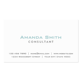 Maquilhador branco liso profissional elegante cartão de visita