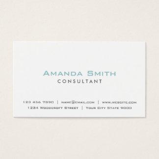 Maquilhador branco liso profissional elegante cartão de visitas
