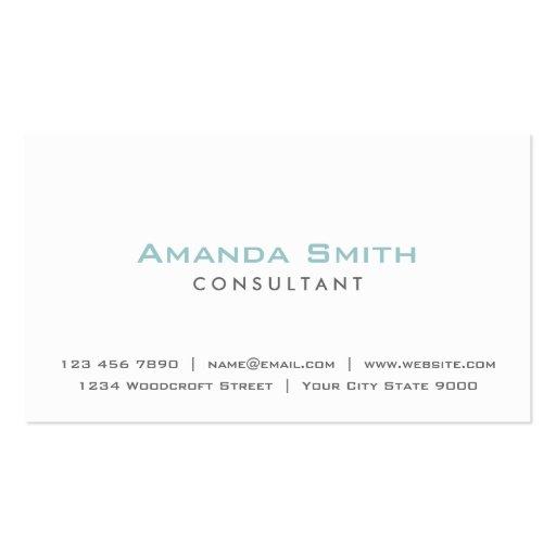 Maquilhador branco liso profissional elegante modelos cartão de visita
