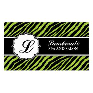Maquilhador do cabeleireiro do impressão da zebra cartão de visita