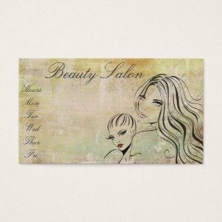 Maquilhador elegante do Salon/de beleza do vintage Cartão De Visitas