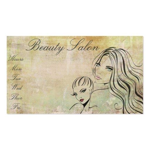 Maquilhador elegante do Salon/de beleza do vintage Modelo Cartão De Visita