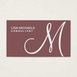 Maquilhador elegante profissional do monograma cartão de visitas