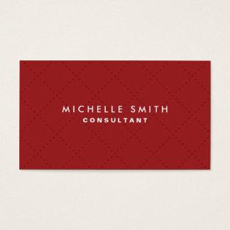 Maquilhador liso vermelho elegante profissional cartão de visitas