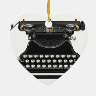 Máquina de escrever antiga ornamento para arvores de natal