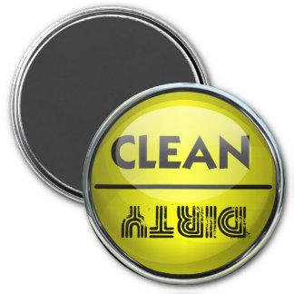 Máquina de lavar louça limpa ou suja ímã redondo 7.62cm