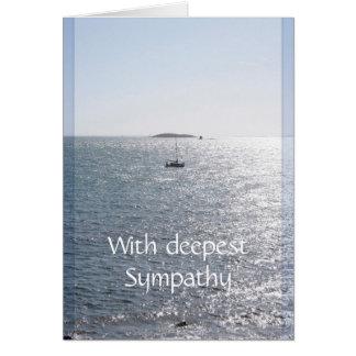 Mar e barco - cartões vazios da simpatia