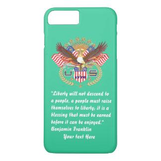 Mar patriótico de Forest Green da paz Capa iPhone 7 Plus