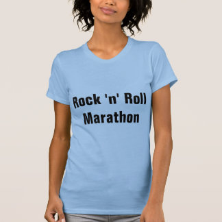 Maratona do rock and roll tshirt