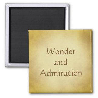 Maravilha e design do ouro da admiração ímã quadrado