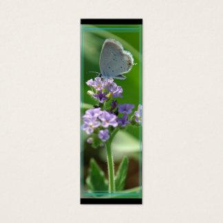 Marcador azul atado oriental da borboleta cartão de visitas mini