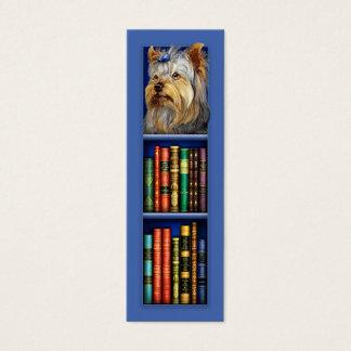Marcador do azul do yorkshire terrier cartão de visitas mini