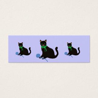 Marcador do gato da diva cartão de visitas mini