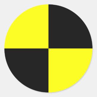 Marcador do manequim do teste do impacto adesivo