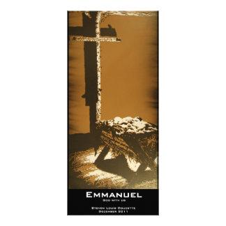 """Marcador do valor de """"Emmanuel"""" 10.16 X 22.86cm Panfleto"""