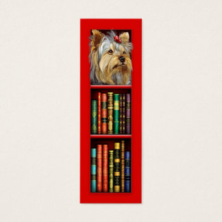 Marcador do vermelho do yorkshire terrier cartão de visitas mini