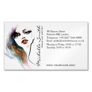 Marcagem com ferro quente colorida da composição cartão de visitas magnético