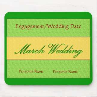 """March Wedding"" Mousepad -Customizable Mouse Pads"