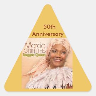 Marcia Griffiths a rainha da reggae - 50th Adesivo Triangular
