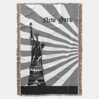 Marco da Nova Iorque (fundo de DIY) Cobertor