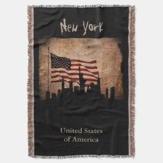 Marco rústico da skyline de New York da bandeira Manta