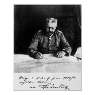 Marechal Paul von Hindenburg, 1914 Poster