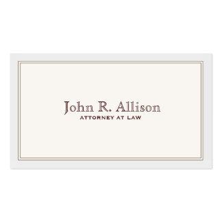 Marfim simples do advogado com cartão de visita da