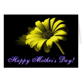 Margarida amarela brilhante do dia das mães feliz cartoes