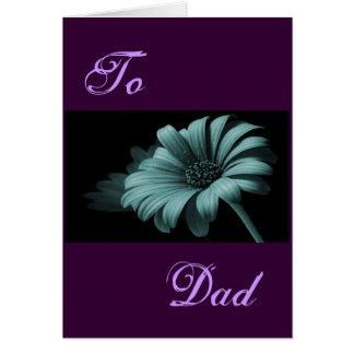 Margarida azul cinzenta do dia dos pais feliz mim cartão comemorativo