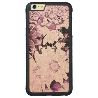 Margarida chique do roxo do wildflower do boho capa bumper para iPhone 6 plus de bordo, carved