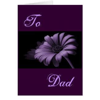 Margarida cinzenta roxa do dia dos pais feliz mim cartão comemorativo