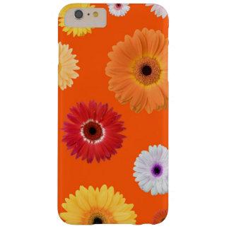 Margarida colorida feminino bonita na laranja capa barely there para iPhone 6 plus