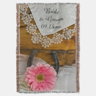 Margarida cor-de-rosa, laço e casamento ocidental coberta