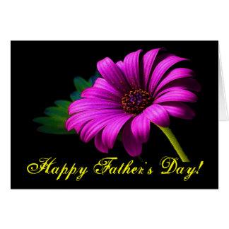 Margarida cor-de-rosa roxa do dia dos pais feliz cartões