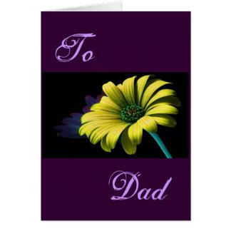 Margarida feliz do amarelo do dia dos pais mim cartão comemorativo