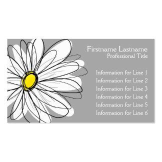 Margarida lunática - cinza amarela cartão de visita