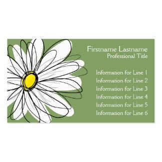 Margarida lunática - verde amarelo cartão de visita
