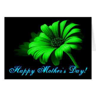 Margarida verde-clara do dia das mães feliz IV Cartões